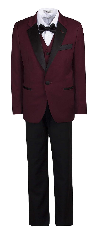 Tuxgear Boys Slim Fit 1 Button Notch Dinner Jacket Suit with Black Lapel Fouger USA TG-641FG-SLIM-TAN-18B