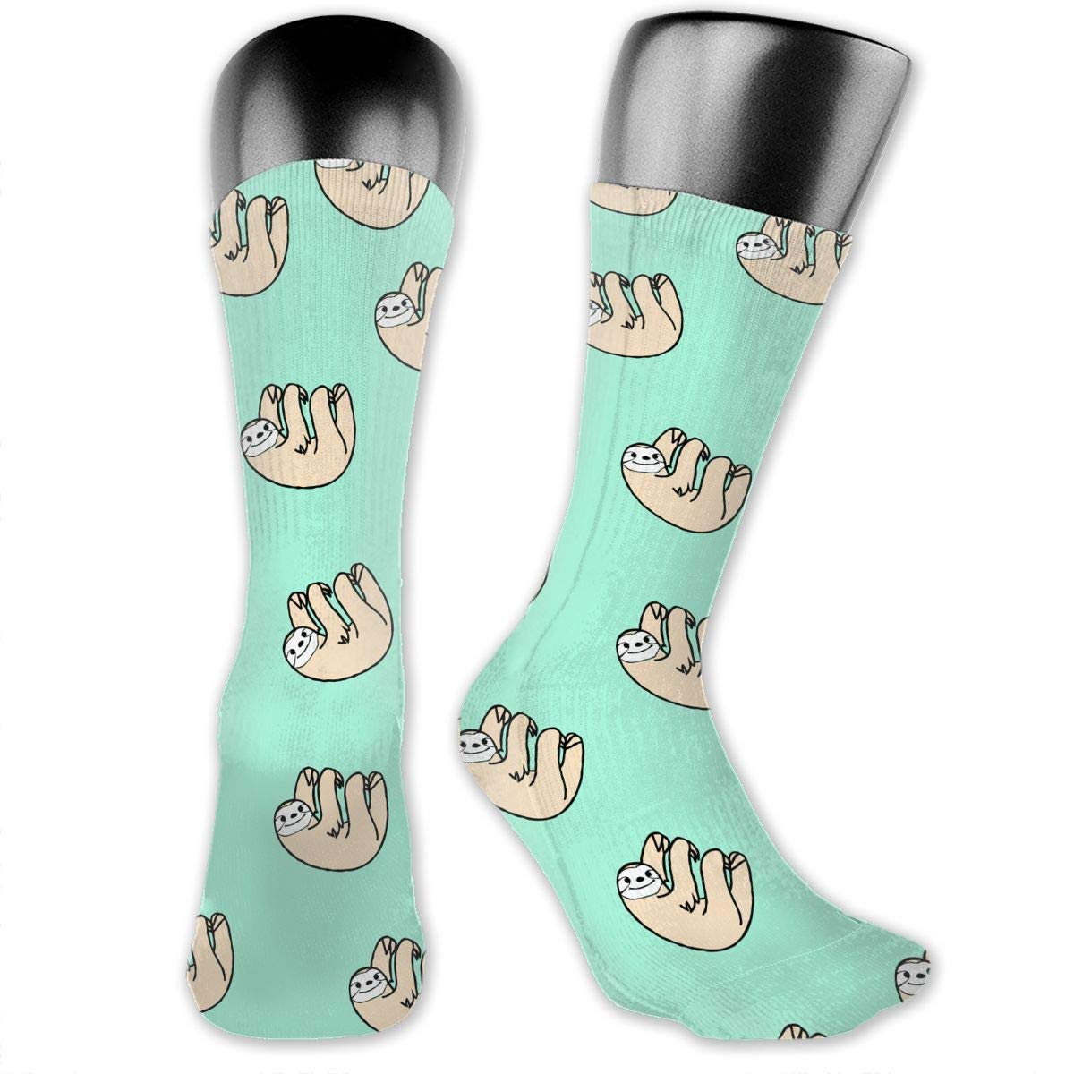 OLGCZM Happy Sloth Men Womens Thin High Ankle Casual Socks Fit Outdoor Hiking Trail