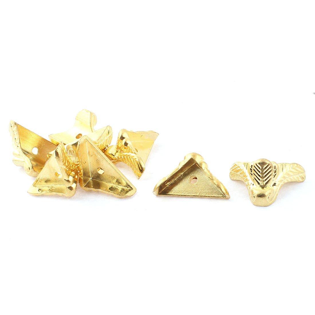 sourcingmap® Metall Box Ecke Protector Guard Gold Ton 8