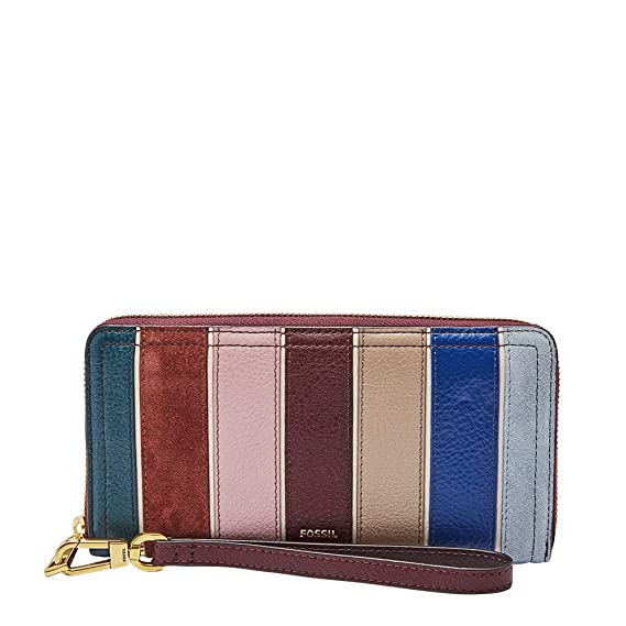 Fossil Womens Logan RFID Zip Wallet