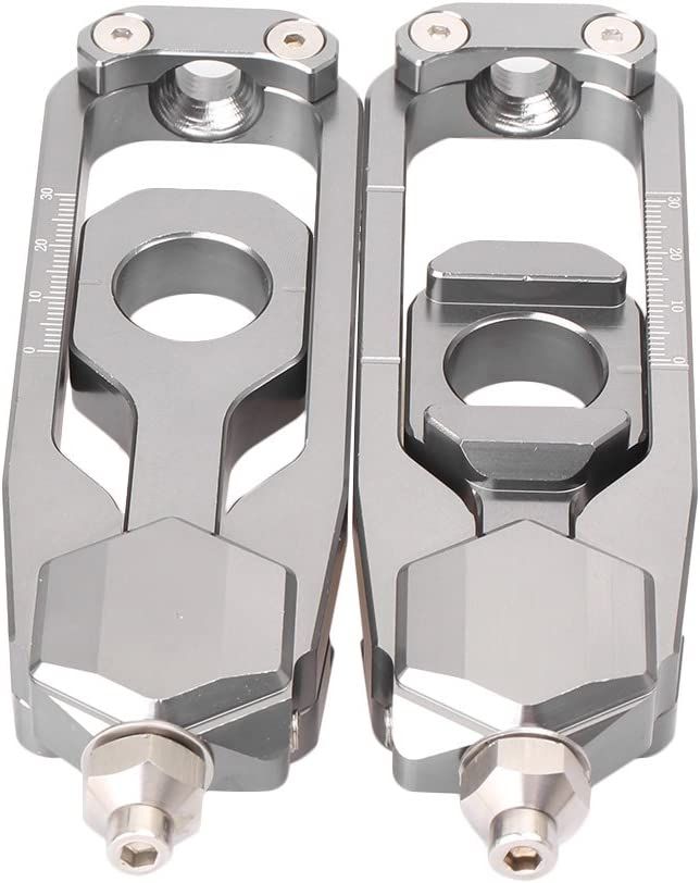 Black GZYF CNC Motorcycle Rear Axle Blocks Chain Adjusters Tensioner for MT-09//FZ-09 2013-2016