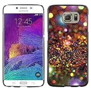 rígido protector delgado Shell Prima Delgada Casa Carcasa Funda Case Bandera Cover Armor para Samsung Galaxy S6 SM-G920 /Universe Stars Pattern Luxurious/ STRONG