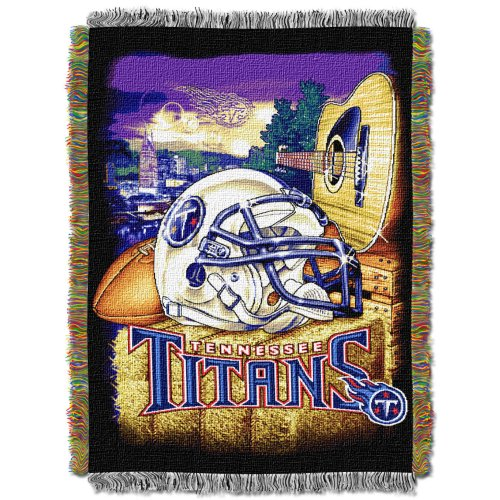 Tennessee Titans Sports Bed (The Northwest Company Officially Licensed NFL Tennessee Titans Home Field Advantage Woven Tapestry Throw Blanket, 48