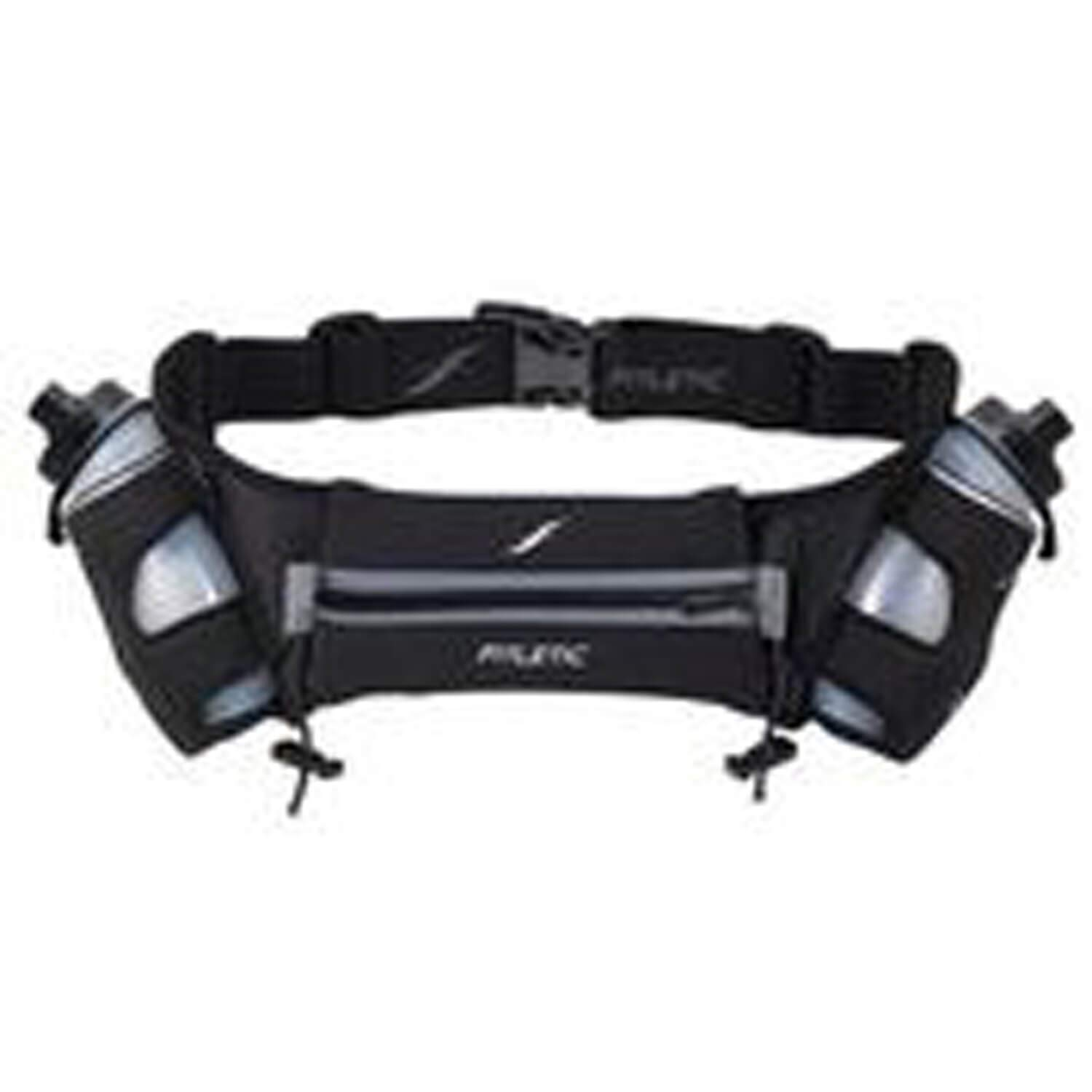 Fitletic  12 Oz Hydration Belt, Black/Gray, Large/X-Large
