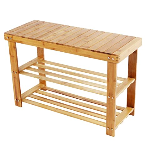 Sensational Amazon Com Lebeauty Bamboo Stool Shoe Cabinet Shoe Rack Beatyapartments Chair Design Images Beatyapartmentscom
