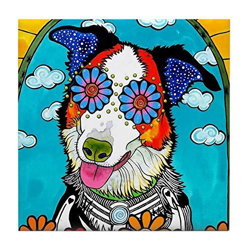 - CafePress Benny The Border Collie Tile Coaster, Drink Coaster, Small Trivet