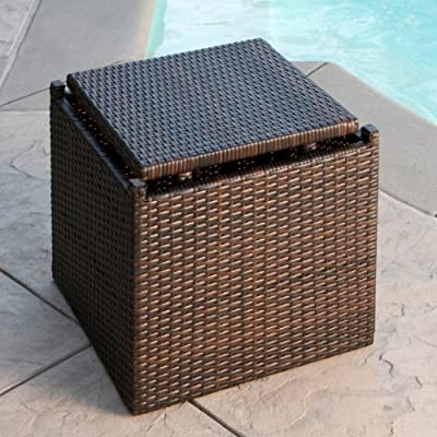 Christopher Knight Home Lakeport Patio Furniture 3 Piece Outdoor Wicker Side Table Set