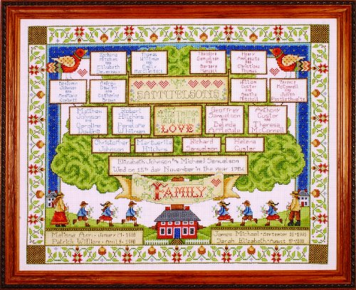 Design Works Crafts Counted Cross Stitch, Family Tree, 16 by 20 inches (Stitch Tree Cross Family)