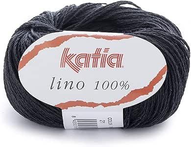 كاتيا لينو خيوط غزل للخياطة ، اسود ، 21 - LINO 100