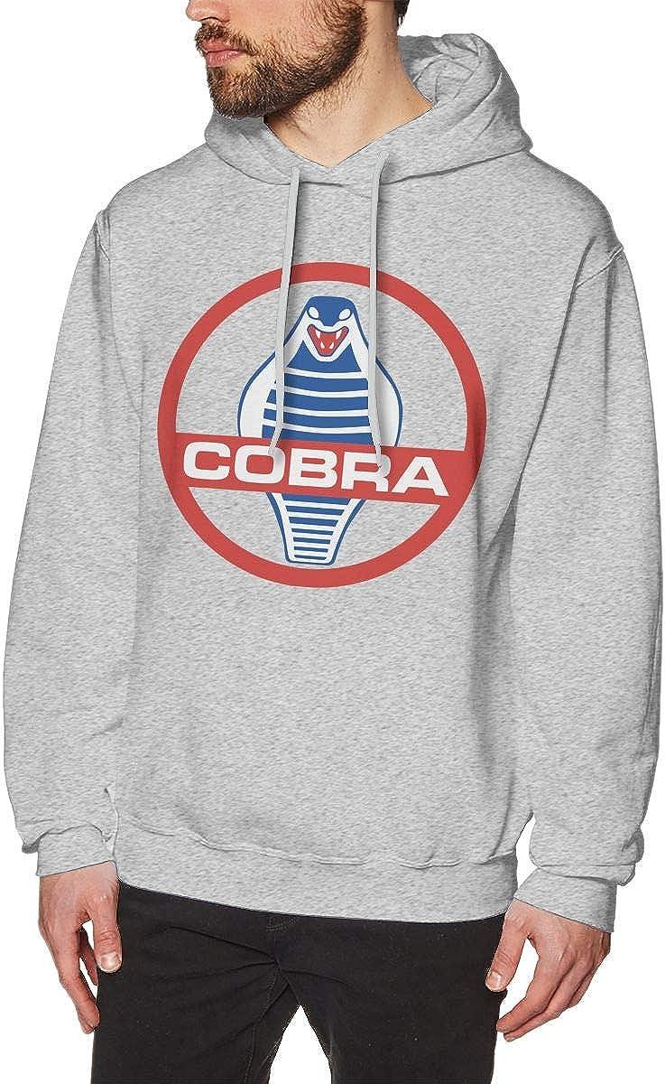 Shelby Cobra Logo Mens Hoodies Pullover Hooded Sweatshirt Jackets Gray