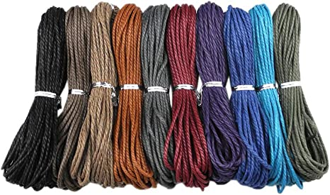 5/' 10/'  yards 2 MM Waxed Cotton  Thread Crafts Cord for jewellery and crafts 2