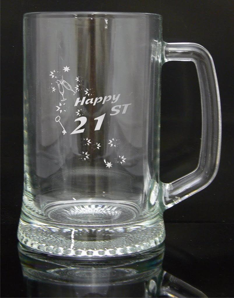 The engraving Gallery Regalo de jarra de cerveza, 21st diseño con el, opcional, grabado gratuito sin