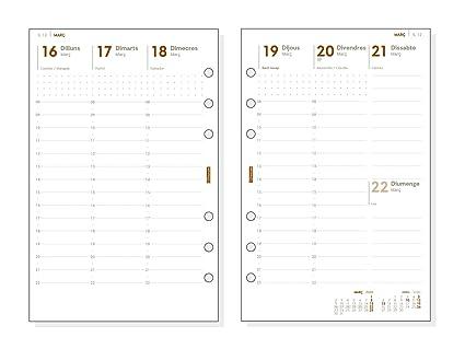 Finocam - Recambio Anual 2020 semana vista vertical Open R599C catalán, 500-117x181 mm