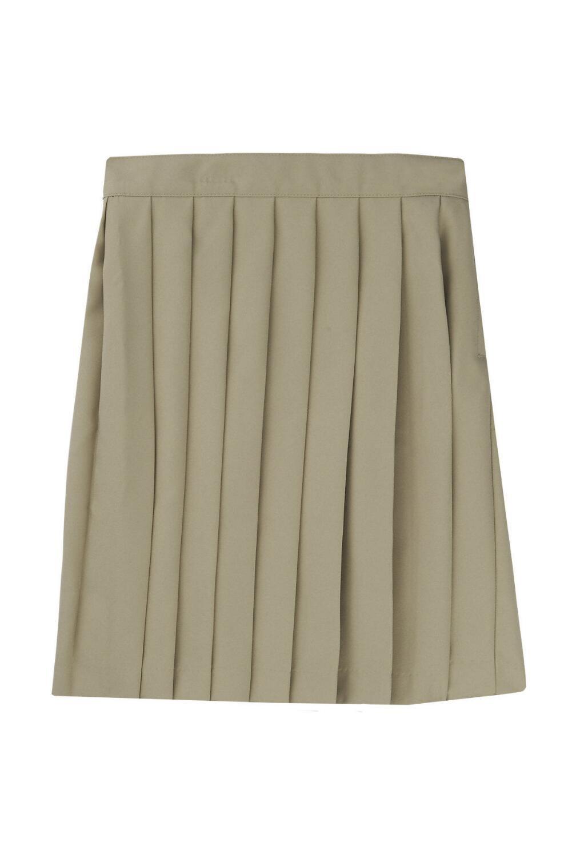 French Toast Big Girls' Pleated Skirt, Khaki, 12