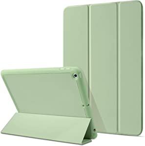 BENTOBEN iPad 7th/8th Generation Case iPad 10.2 Case 2020/2019 with Pencil Holder, Premium Protective Tablet Case Soft TPU Back Smart Cover Auto Wake/Sleep for iPad 8th/7th Generation 10.2inch, Matcha