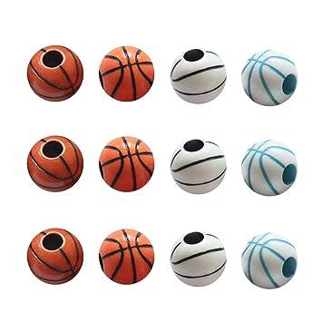 TOYANDONA 60 unids Beads Deportes Baloncesto Beads Ronda DIY Beads ...