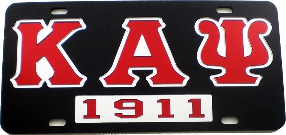 Kappa Alpha Psi 1911 Ghost Back Letters Car Tag License Plate