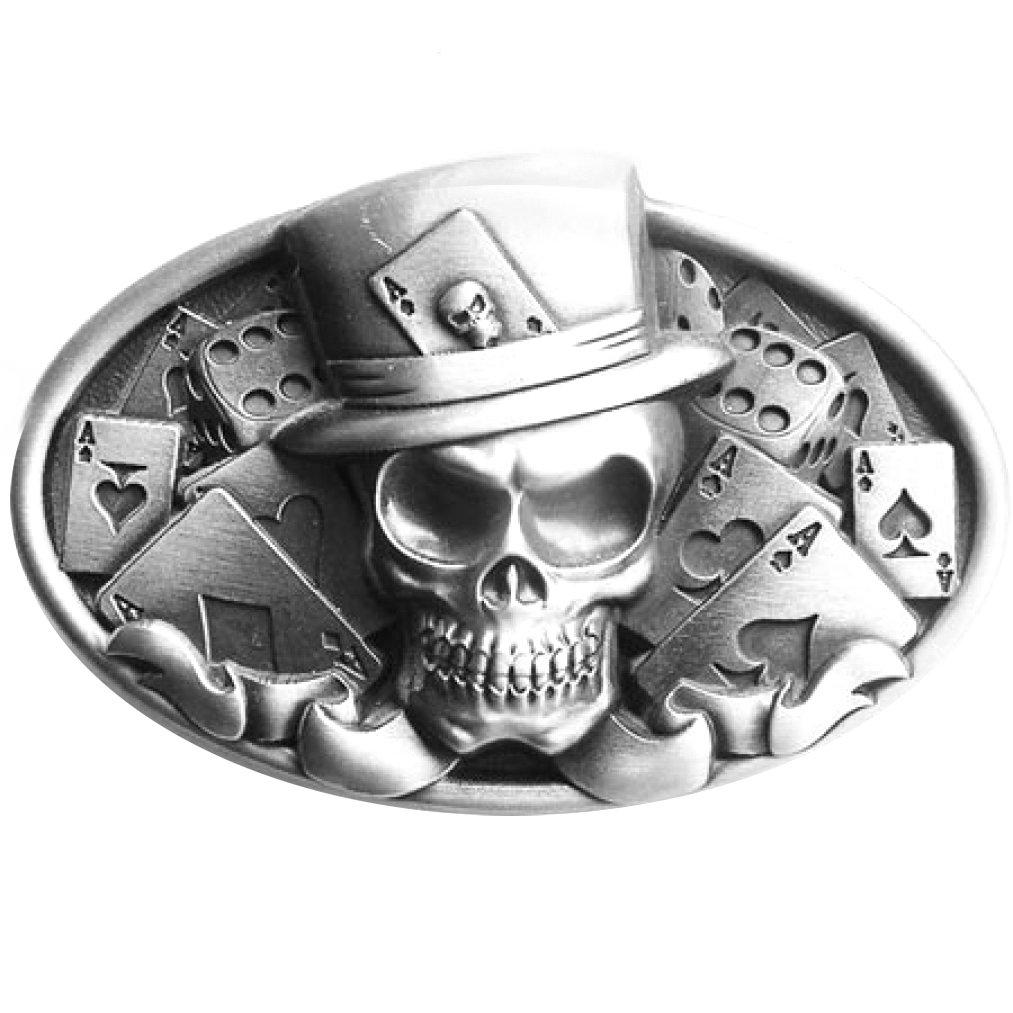 Fibbia Skull, Skull, Poker Dice - Fibbia Piratenladen