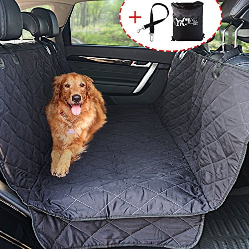 WINNER OUTFITTERS Dog Car Seat Covers,Dog Seat Cover Pet Seat Cover for Cars, Trucks, and Suv - Black, 100% WaterProof, Hammock Convertible Other Standard Car Covers