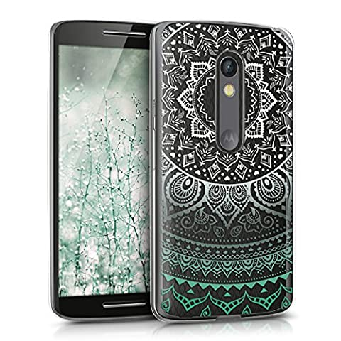 kwmobile Crystal TPU Silicone Case for Motorola Moto X Play in Design Indian sun mint white (Motorola X Clear Cover)