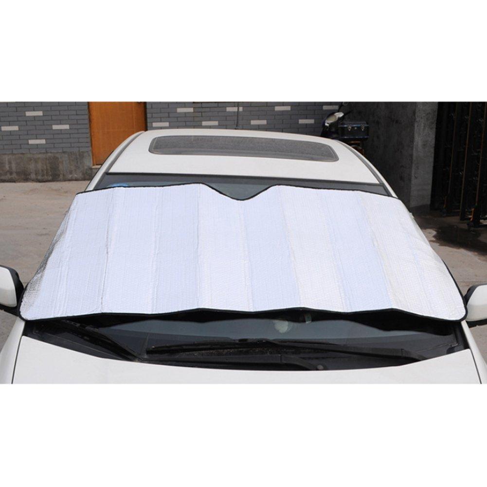 yo auto parasole pieghevole frontale calore e protezione raggi UV da sole riflettore per mantenere veicolo fredda 140 x 70 cm Vi colore: Argento
