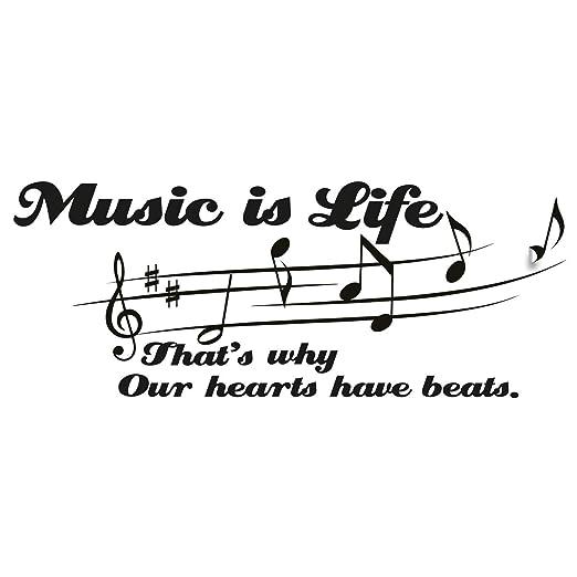 La Música Es Mi Vida Cotización De La Pared Pegatina Arte