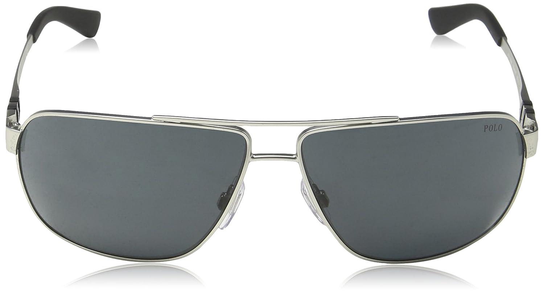 b53696897117 Amazon.com: Polo Ralph Lauren Men's 0ph3088 Rectangular Sunglasses, matte  silver, 65.0 mm: Polo Ralph Lauren: Clothing