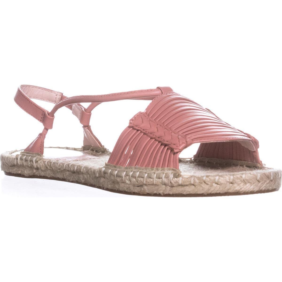 Avec Les Filles Womens Genevie Open Toe Casual Espadrille Sandals B07B43QS1V 11 M US|Coral Shiny Calf