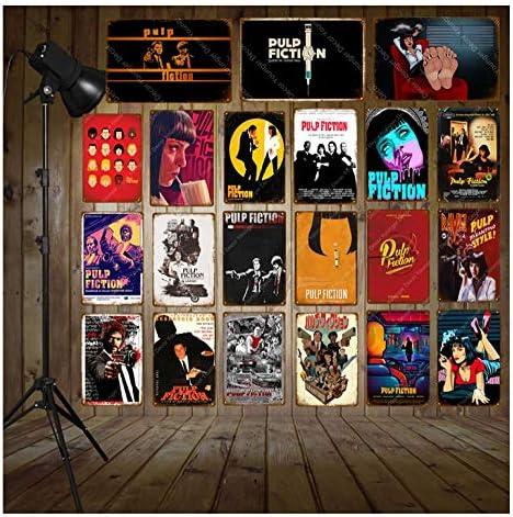 LHCY Carteles De Metal Vintage Carteles Clásicos De Pulp Fiction ...