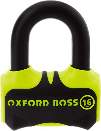 Motorcycle Oxford Boss 16 Disc Lock Yellow Uk Seller Oxford Auto