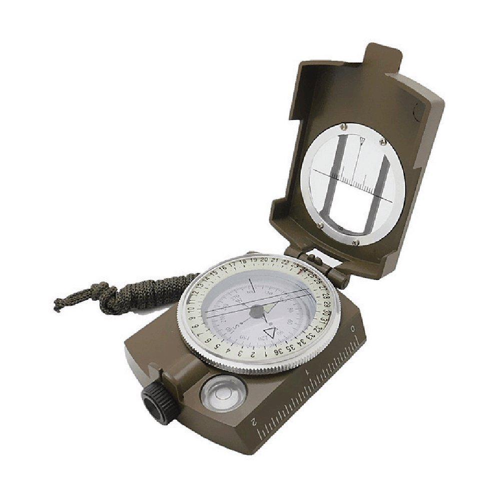 militaire professionnel Compas en métal multi-usages lumineux Mini Navigation haute précision étanche Roulement à main armée Boussole pour camping randonnée Tong Yue