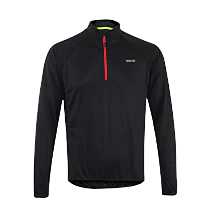 a1e2ab4c0 Amazon.com   Cuzaekii Mens Long Sleeve Cycling Jersey MTB Bike Shirt ...