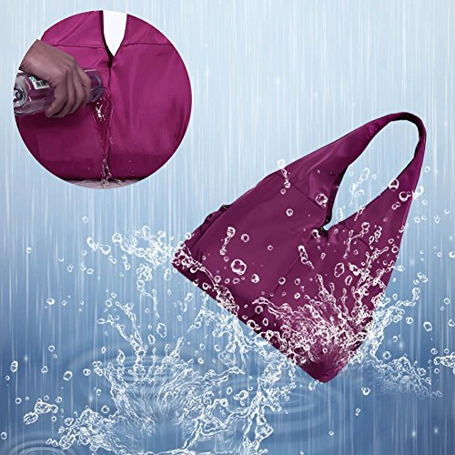 Bolsillos Varios Bolsa Hombro de Bolso para de Compra Rojo de la Rosado Bolso as Morado Show gaeruite Casual Mujer qO70wxx