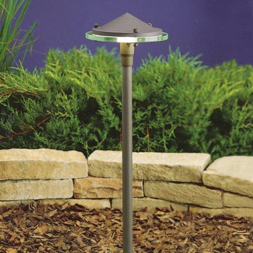 Kichler 15817AZT27 Glass & Metal 4W 2700K Design Pro LED 12V Path & Spread Landscape Fixture, Textured Architectural Bronze (Spread Landscape Fixture)