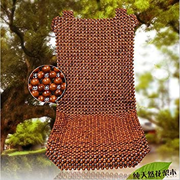 HomDSim Wood Beaded Auto Car Seat Bead Cover,Natural Rosewood Wooden Bead Cool Refreshing Back Massaging Comfort Cushion Mat,Premium Quality Universal for Car Truck on Summer Front seat