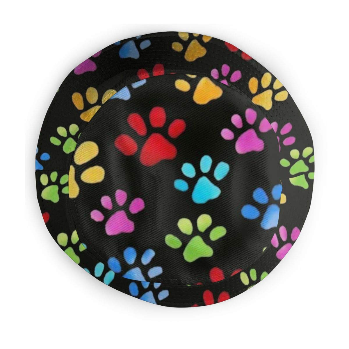 Boys and Girls 100/% Polyester Rainbow Kitty Paw Prints Mesh Cap Breathable Mesh Back Trucker Hat for Unisex