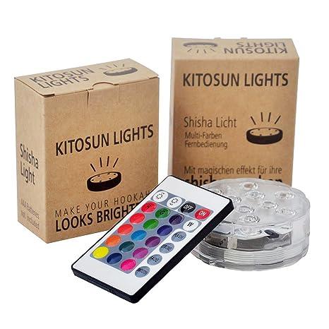 Luz sumergible del LED, Kitosun subacuático color impermeable que cambia la base de la luz