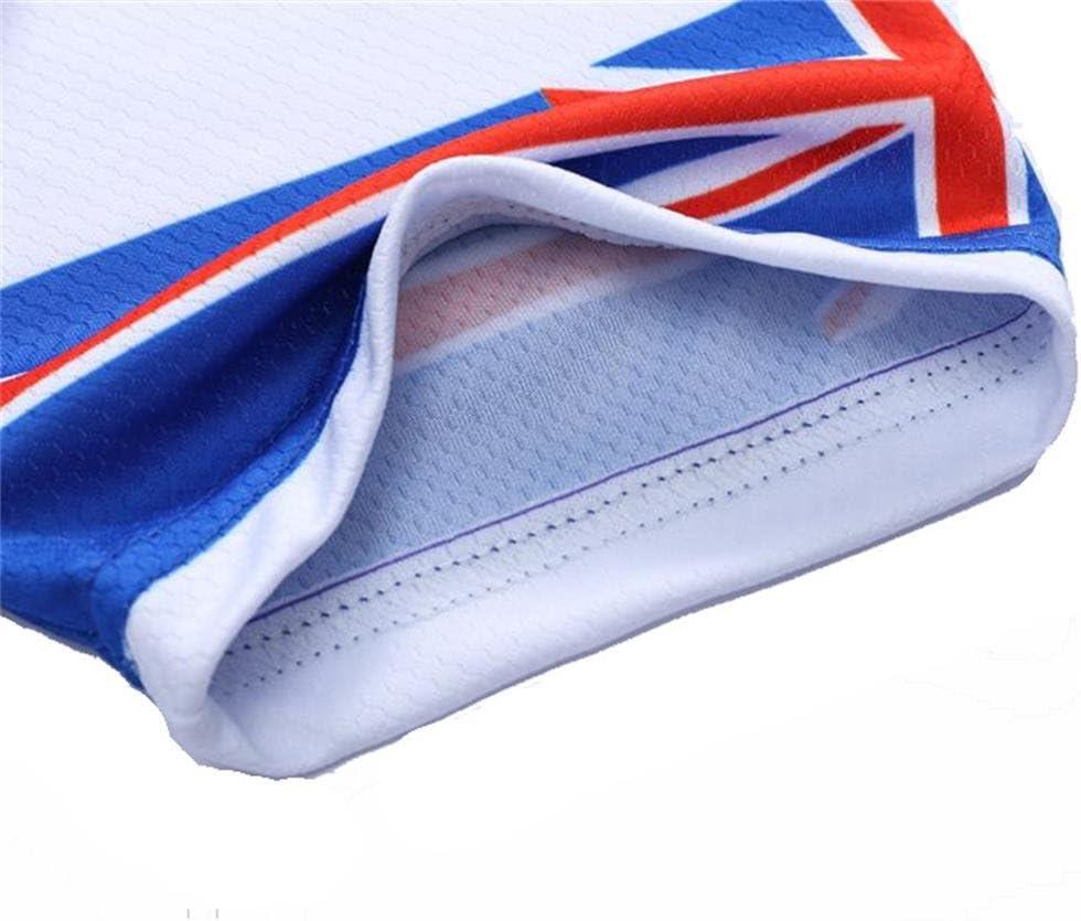 con IT//UK//DE//FR Modello Bandiera Nazionale logas Completo MTB Estivo Uomo Maglia Bici Manica Corta Pantaloncini Ciclismo per Corsa Bici Strada,Traspirante e Ad Asciugatura Rapida