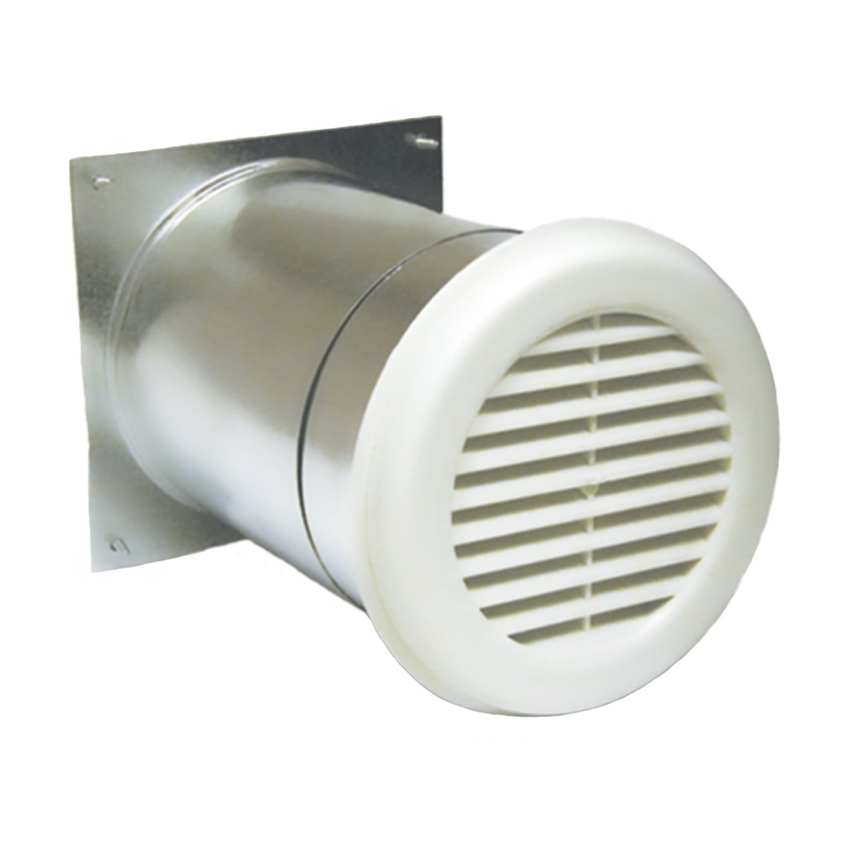 """AIRLET 200 Fresh Air Inlet with Aluminum Exterior Grille (5""""-9"""" Telescoping Sleeve) - Passive Filtered Fresh Air Inlet For Make Up Air"""