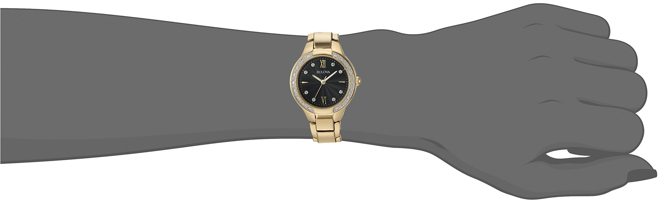 Bulova Women's Quartz and Stainless-Steel Casual Watch, Color:Gold-Toned (Model: 98R222) by Bulova (Image #2)