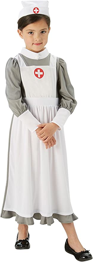 Victorian Kids Costumes & Shoes- Girls, Boys, Baby, Toddler Rubies Official WW1 Nurse Girls Fancy Dress Hospital Uniform Kids Childs Childrens Costume £10.95 AT vintagedancer.com