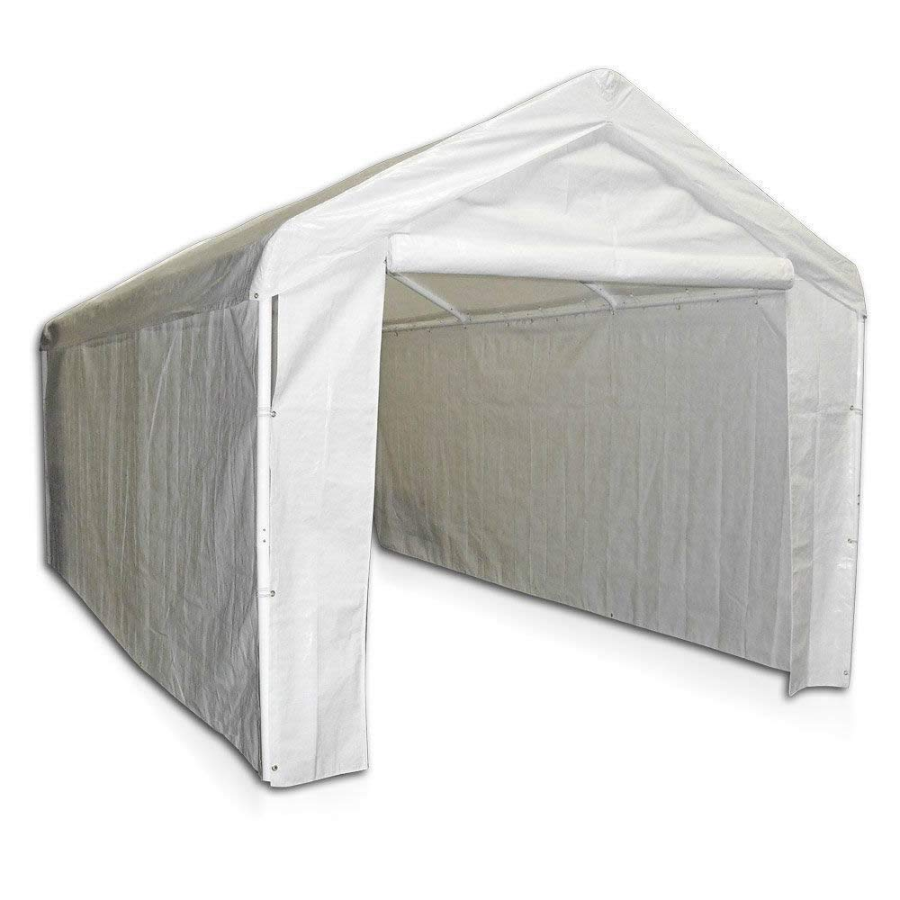 Selva 10'x20' Carport Canopy Side Wall Kit | Ideal for Outing Camping Friendly Tent Party Garage Enclosure Shelter | 100% Polyethylene Fabric Made | Heavy Duty Fire Water Retardant Solid Black Fall