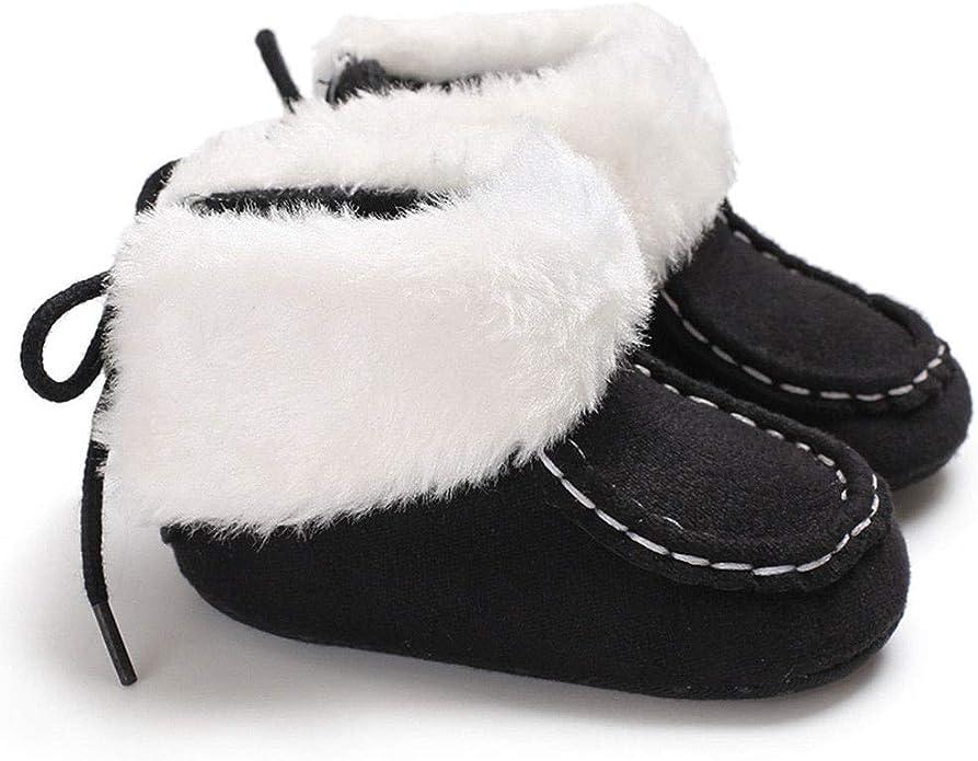 Kuriozud MYGGPP Toddler Baby Boys Girls Soft Winter Warm Boots Prewalker First Walker Shoes