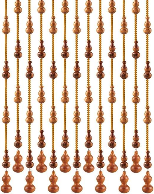 GuoWei De Madera Cortinas de Cuentas Calabaza Colgantes para Puerta Tabique Colgando Cuerdas Decorativo Pastoral Personalizable (Tamaño : 21 strings-80x81cm): Amazon.es: Hogar