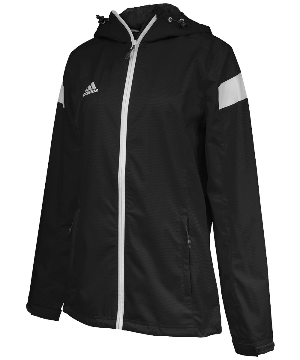 adidas Womens Team Woven Jacket, Black/White, Large