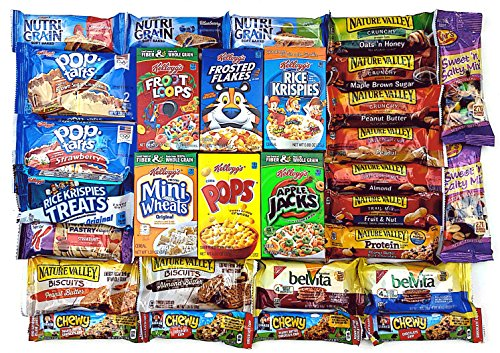 Grab 'N Go Breakfast Variety Pack - Ultimate Snack Gift Box for Quick Breakfast Snacks / Care Package (Sending Care Packages)