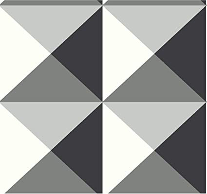 York Wallcoverings RY2752 Risky Business 2 Origami Removable Wallpaper, Black/White/Gray - - Amazon.com
