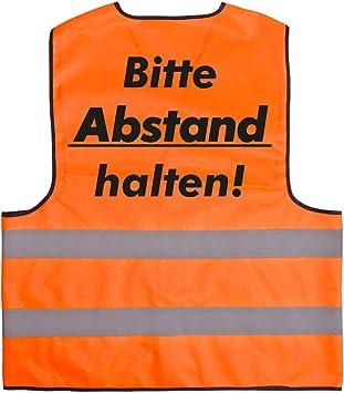 Warnweste Set Halte Abstand Sicherheitsweste Signal Weste Auto Joggen Laufweste Erwachsene Reflektor Orange Mit Klettverschluss M 8 Stück Baumarkt