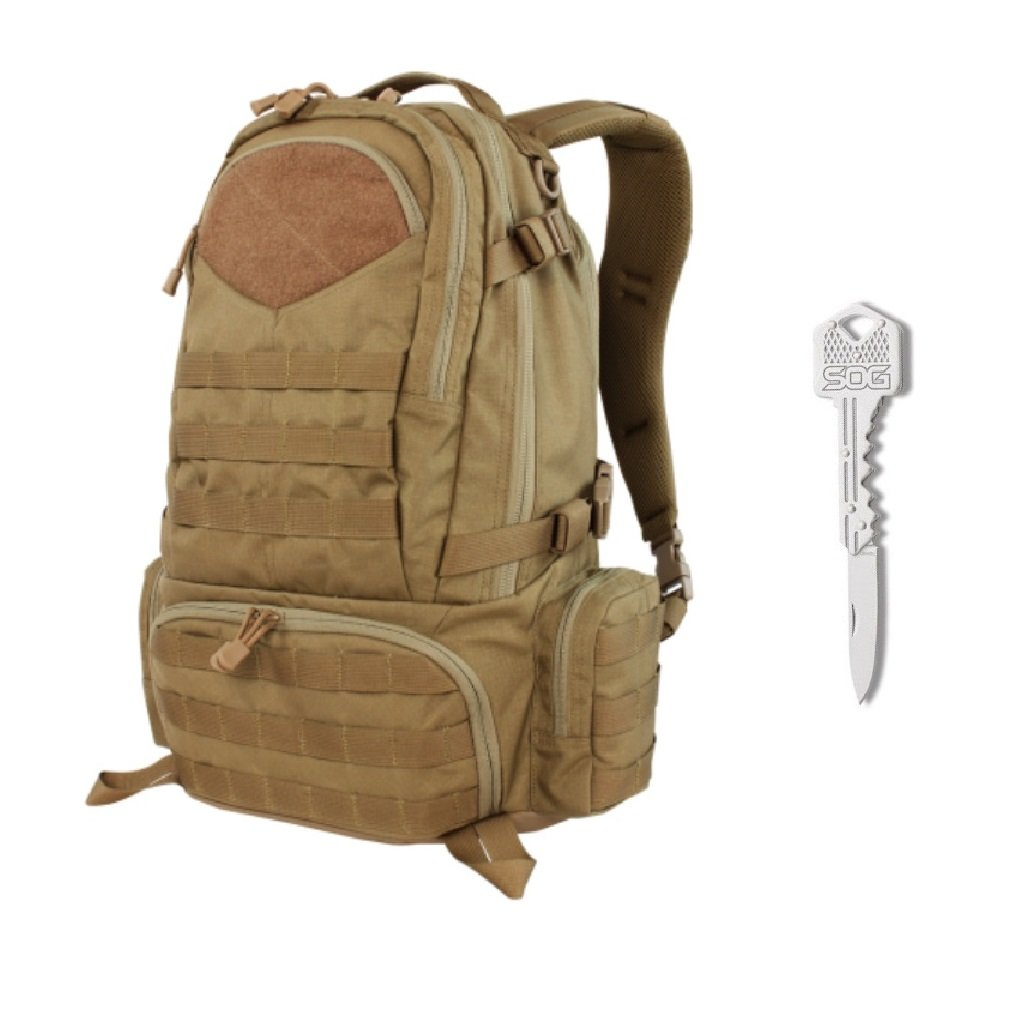 Condor Titan Assault Pack (Brown) + SOG Lockback Key Knife