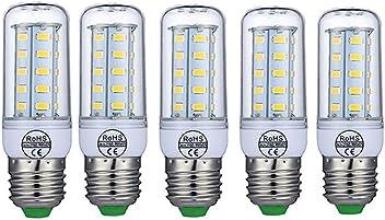 Top Quality 5730SMD E27 AC 110V 36LED LED Corn Bulb Lampada 5W White/Warm White